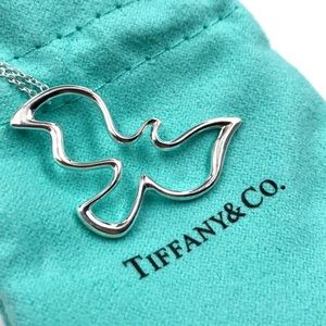 Tiffany & Co Silver Picasso Peace Dove Necklace